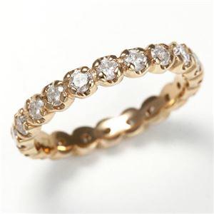 K18PG ダイヤリング 指輪 1.0ct フルエタニティリング 15号