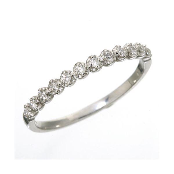 K18 ダイヤハーフエタニティリング ホワイトゴールド 9号 指輪f00