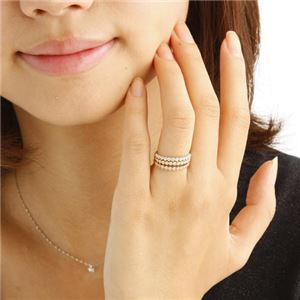 K18 ダイヤハーフエタニティリング ホワイトゴールド 9号 指輪 h02