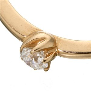 K18 ダイヤリング 指輪 シューリング ホワイトゴールド 17号 h03