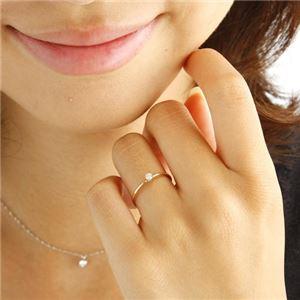 K18 ダイヤリング 指輪 シューリング ホワイトゴールド 17号 f04