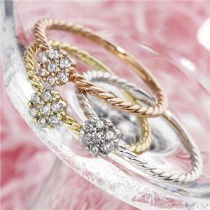 k18ダイヤリング 指輪 PG(ピンクゴールド)