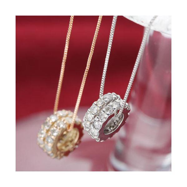 K18WGダイヤモンドエタニティペンダント ホワイトゴールド画像1