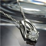 PT0.2ctプラチナたっぷりダイヤモンドペンダント/ネックレス