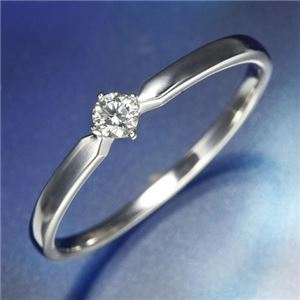 K18WGダイヤリング 指輪 21号 - 拡大画像