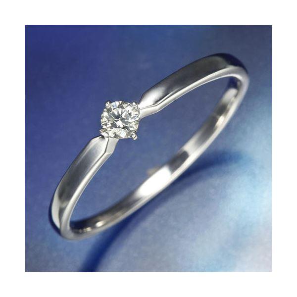 K18WGダイヤリング 指輪 21号f00