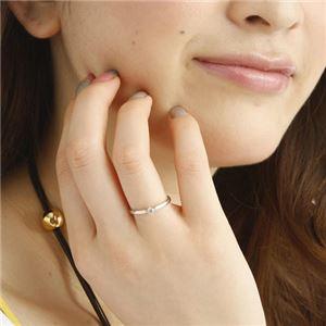 K18WGダイヤリング 指輪 21号 h03