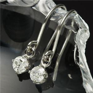 PTダイヤモンドピアス フックピアス プラチナ