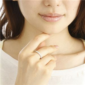 プラチナPt900 ダイヤリング 指輪 1ctエタニティリング 12号 (鑑別書付き)