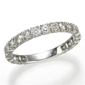 プラチナPt900 ダイヤリング 指輪 1ctエタニティリング 17号 (鑑別書付き)