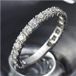 プラチナPt900 ダイヤリング 指輪 1ctエタニティリング 19号 (鑑別書付き)