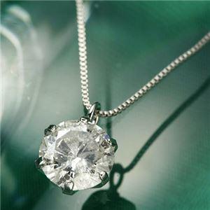 プラチナPt0.6ctダイヤモンドペンダント/ネックレスベネチアンチェーン - 拡大画像