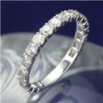 プラチナPt900 1.0ctダイヤリング 指輪 エタニティリング 15号