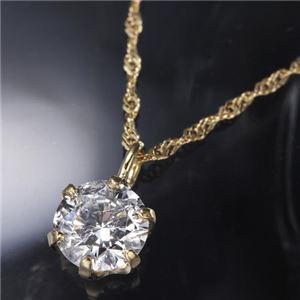 K18YG0.3ctダイヤモンドペンダント/ネックレス - 拡大画像