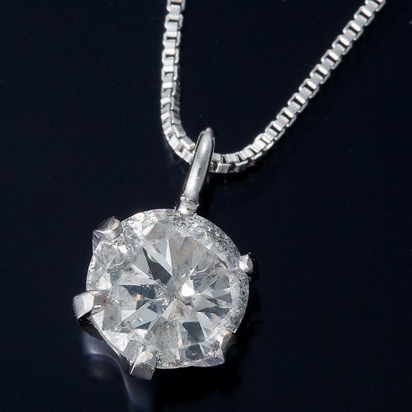 純プラチナ 0.3ctダイヤモンドペンダント/ネックレス ベネチアンチェーン(鑑別書付き)f00