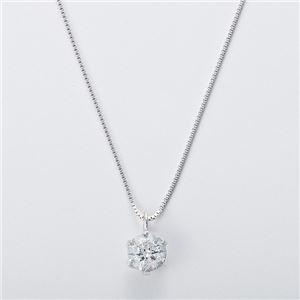 純プラチナ 0.3ctダイヤモンドペンダント/ネックレス ベネチアンチェーン(鑑別書付き) h03