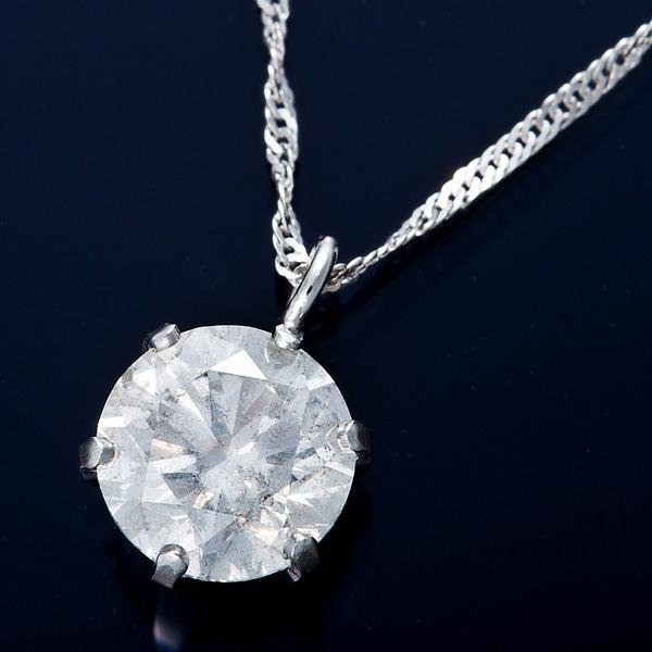 K18WG 0.7ctダイヤモンドネックレス スクリューチェーン 画像①
