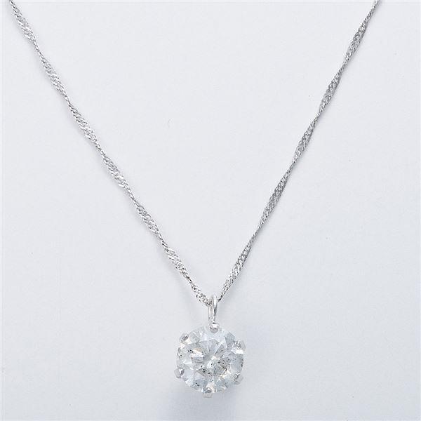 K18WG 0.7ctダイヤモンドネックレス スクリューチェーン 画像③