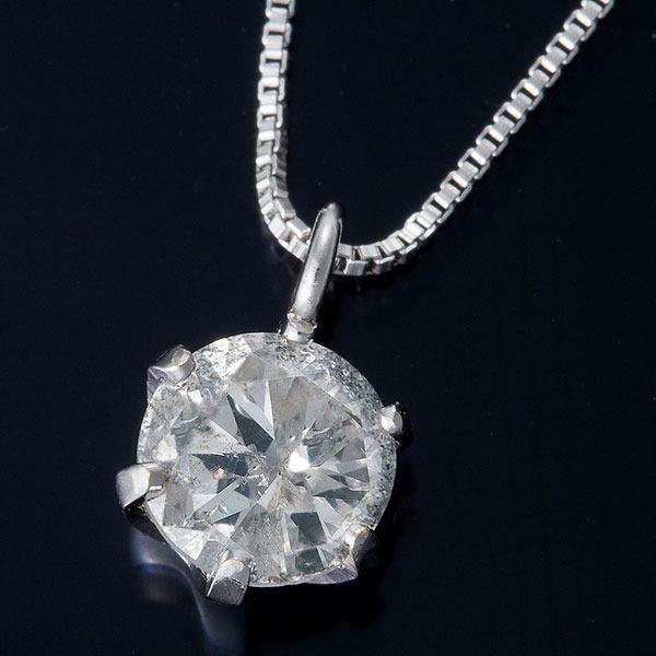 純プラチナ 0.3ctダイヤモンドネックレス ベネチアンチェーン(鑑定書付き) 画像①