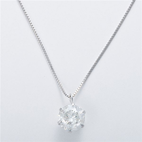 K18WG 1ctダイヤモンドネックレス ベネチアンチェーン 画像③