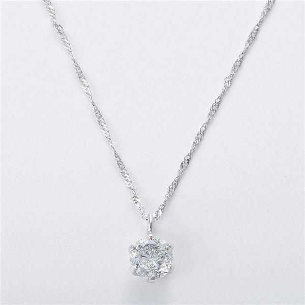 K18WG 0.3ctダイヤモンドネックレス スクリューチェーン(鑑別書付き) 画像③