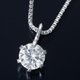 K18WG 0.1ctダイヤモンドペンダント/ネックレス ベネチアンチェーン(鑑別書付き) - 縮小画像1