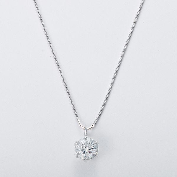 K18WG 0.3ctダイヤモンドネックレス ベネチアンチェーン(鑑別書付き) 画像③