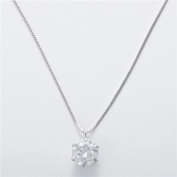 K18WG 0.5ctダイヤモンドネックレス ベネチアンチェーン(鑑別書付き) 画像③