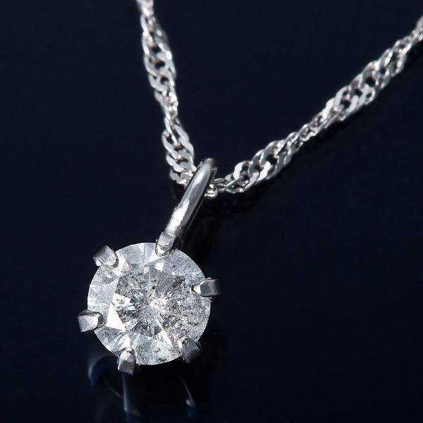 K18WG 0.1ctダイヤモンドネックレス スクリューチェーン(鑑定書付き) 画像①