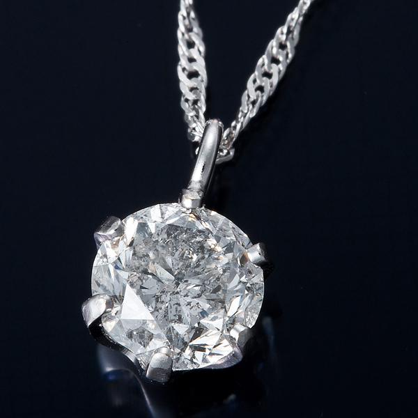 K18WG 0.3ctダイヤモンドネックレス スクリューチェーン(鑑定書付き) 画像①