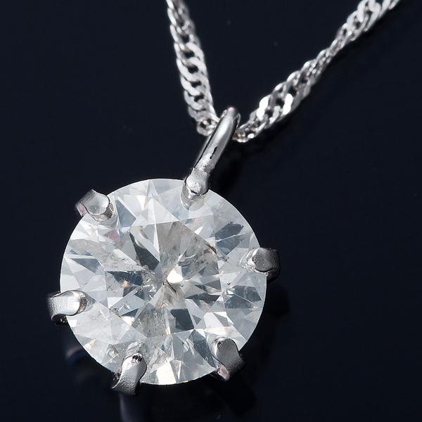 K18WG 0.5ctダイヤモンドネックレス スクリューチェーン(鑑定書付き) 画像①