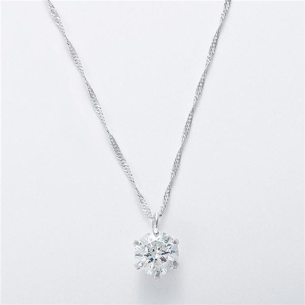 K18WG 0.5ctダイヤモンドネックレス スクリューチェーン(鑑定書付き) 画像③