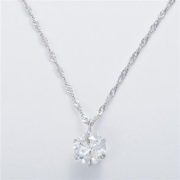 K18WG 1ctダイヤモンドネックレス スクリューチェーン(鑑定書付き) 画像③