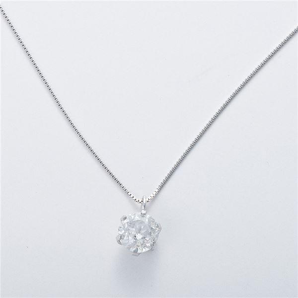 K18WG 0.7ctダイヤモンドネックレス ベネチアンチェーン(鑑定書付き) 画像③