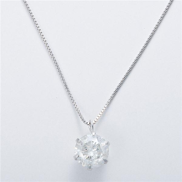K18WG 1ctダイヤモンドネックレス ベネチアンチェーン(鑑定書付き) 画像③