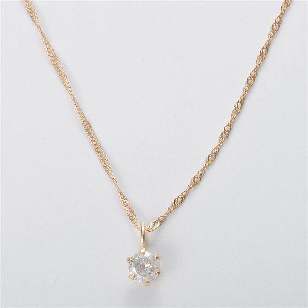 K18 0.1ctダイヤモンドネックレス スクリューチェーン 画像③