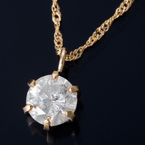 K18 0.3ctダイヤモンドネックレス スクリューチェーン 画像①
