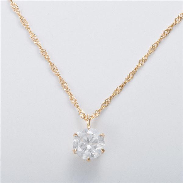 K18 1ctダイヤモンドネックレス スクリューチェーン 画像③