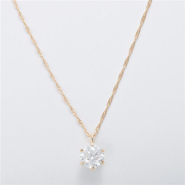 K18 0.5ctダイヤモンドネックレス スクリューチェーン(鑑別書付き) 画像③