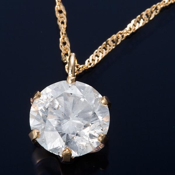 K18 0.7ctダイヤモンドネックレス スクリューチェーン(鑑別書付き) 画像①