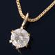 K18 0.1ctダイヤモンドペンダント/ネックレス ベネチアンチェーン(鑑別書付き) - 縮小画像1