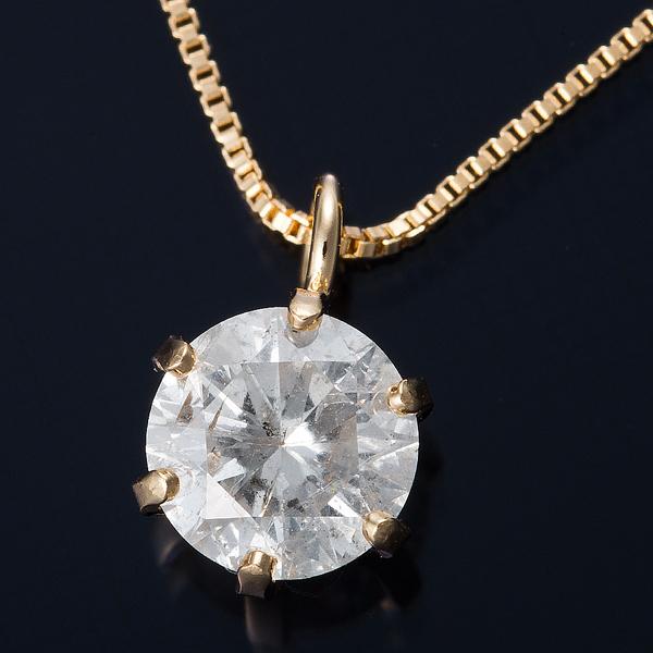 K18 0.3ctダイヤモンドネックレス ベネチアンチェーン(鑑別書付き) 画像①