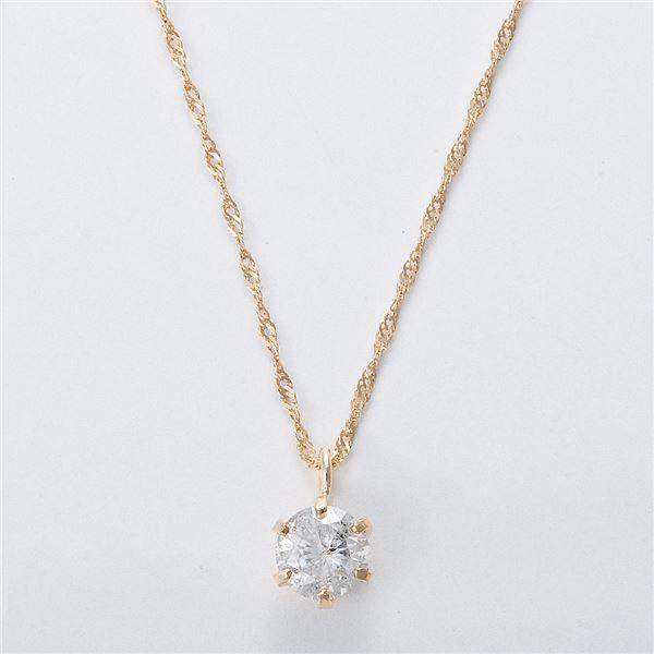 K18 0.3ctダイヤモンドネックレス スクリューチェーン(鑑定書付き) 画像③