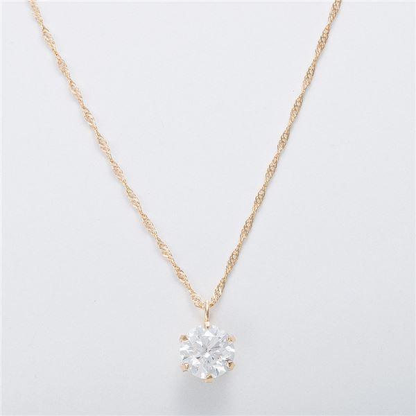 K18 0.5ctダイヤモンドネックレス スクリューチェーン(鑑定書付き) 画像③