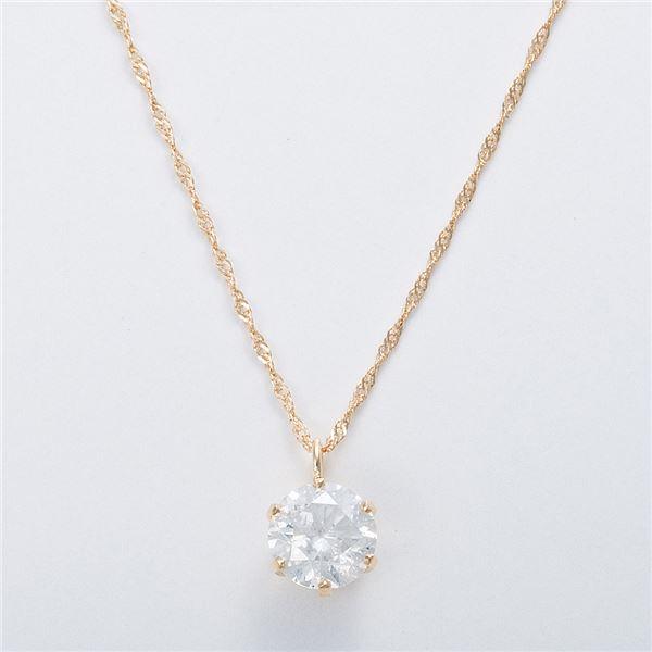 K18 0.7ctダイヤモンドネックレス スクリューチェーン(鑑定書付き) 画像③