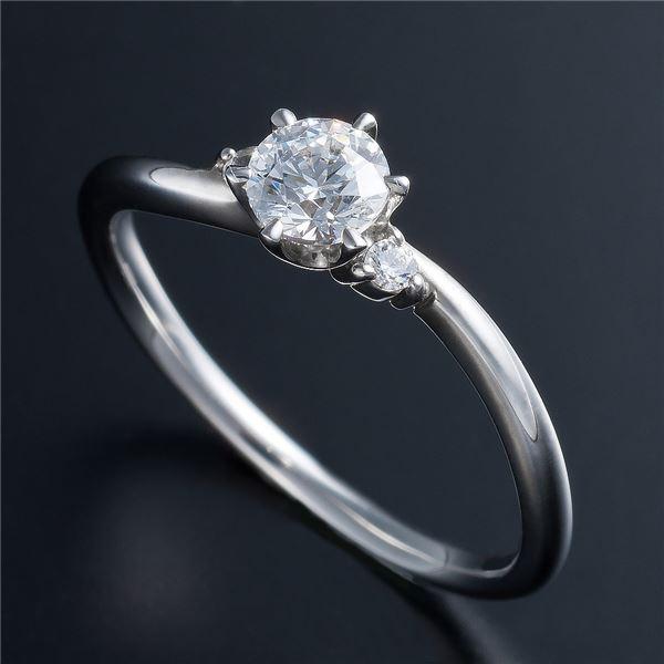Dカラー・VVS2・EX Pt0.3ct ダイヤリング 両側ダイヤモンド(鑑定書付き) 8号f00