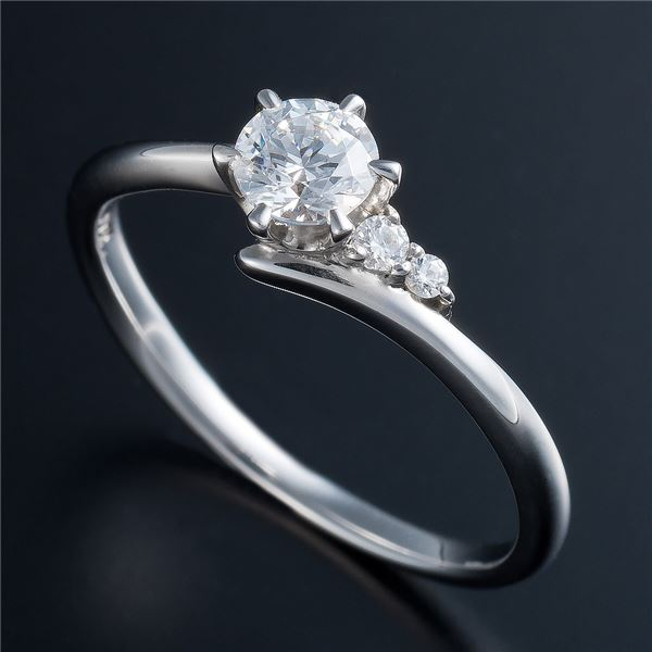 Dカラー・VVS2・EX Pt0.3ct ダイヤリング サイドダイヤモンド (鑑定書付き) 8号f00