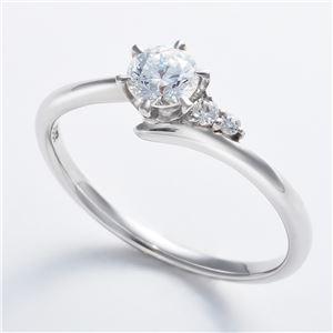 Dカラー・VVS2・EX Pt0.3ct ダイヤリング サイドダイヤモンド (鑑定書付き) 9号 h02