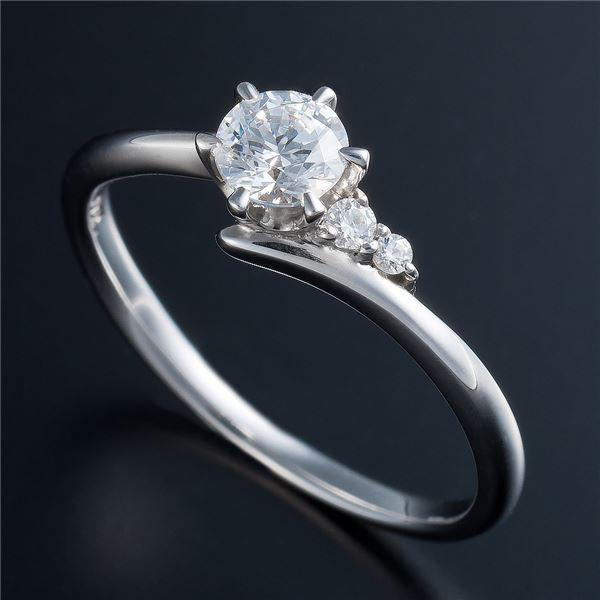 Dカラー・VVS2・EX Pt0.3ct ダイヤリング サイドダイヤモンド (鑑定書付き) 10号f00
