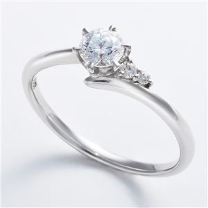 Dカラー・VVS2・EX Pt0.3ct ダイヤリング サイドダイヤモンド (鑑定書付き) 10号 h02